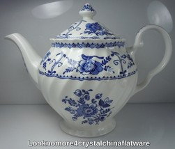 Johnson Brothers Indies Blue Tea Pot and Lid 4 Cup - $55.43