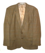 Samuel Windsor Pure New Wool Suit Jacket 44 S Green Blazer 2 Button Herr... - $45.00