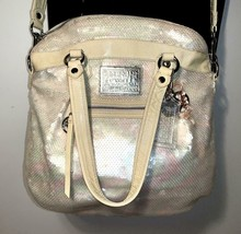 Coach Poppy ~ Pearl Opal Sequins Large Highlight Bag Tote ~ Patent Leath... - $59.00