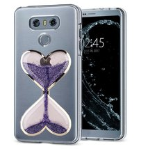 HTC U Play Case,Creative Handmade Wine Sandglass Dynamic Liquid Glitter Bling Sp - $10.88