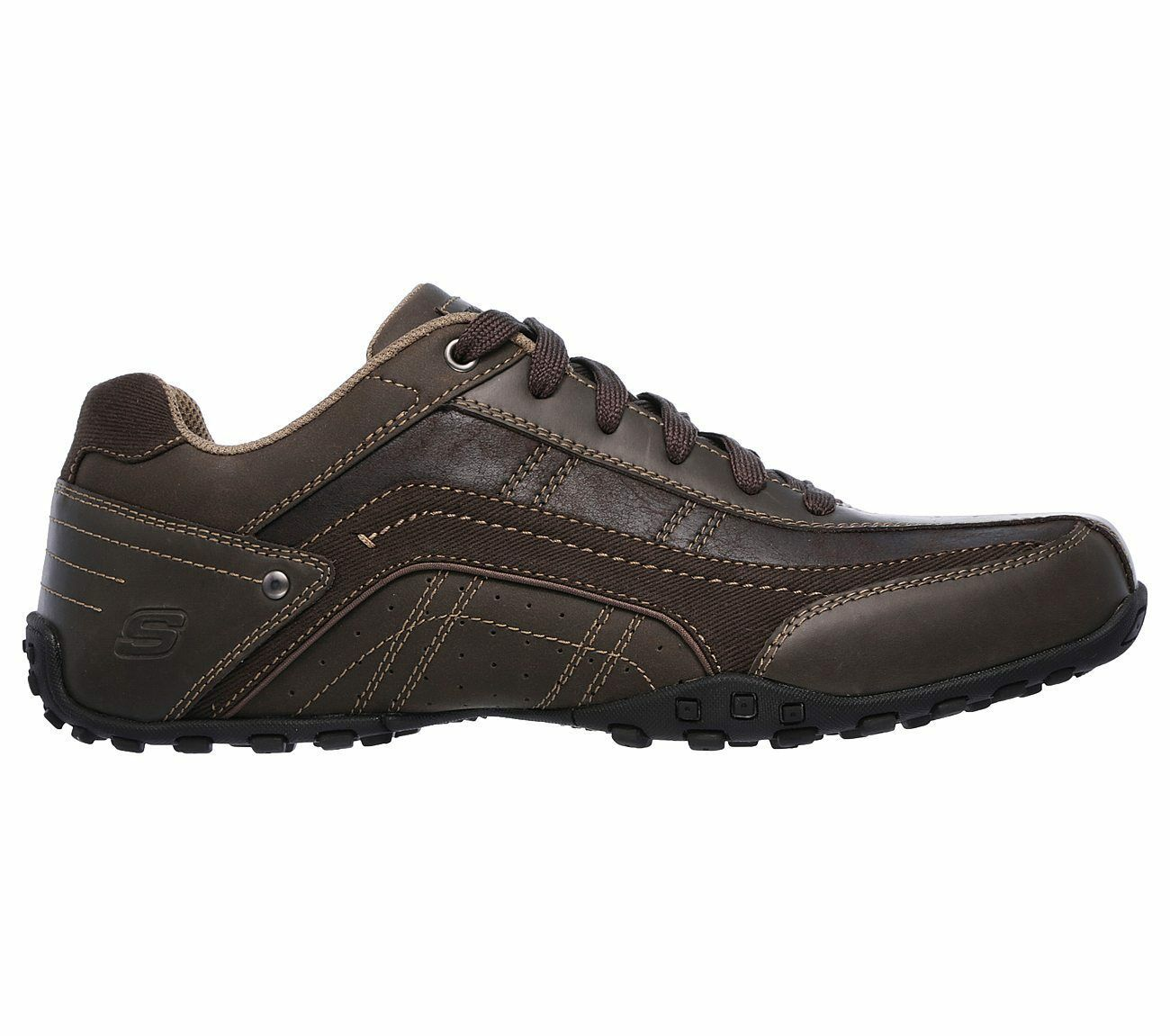 Men's Skechers Citywalk - Elendo Casual Shoes, 64932 /CHOC Sizes 8-14 Chocolate image 6