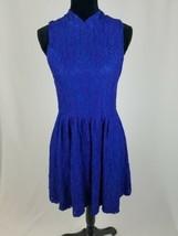 Anthro Moulinette Soeurs women M sleeveless lace mock neck fit & flare dress - $44.55
