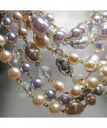 "4 PC Lot QVC Genuine European Lead Free Glass Bead Beaded Crystal 38"" Ne... - $64.35"