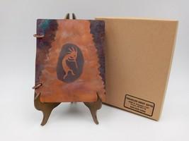 Vintage Copper Tone Tin Cover Address Book Clarkdale Arizona Souvenir Na... - $18.95