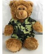 "Build a Bear Stuffed Bear wearing a Camouflage Outfit 16"" Tall   - $12.82"