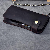On Sale, Horse Leather Long Wallet, Card Holder Wallet, Long Chain Wallet image 4