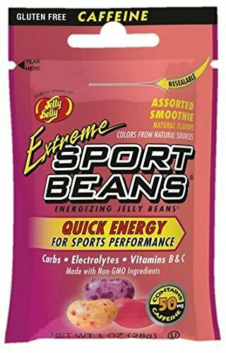 Jelly Belly Sport Beans Energizing Extreme Smoothie Assorted Flavors 24 Pack 1oz