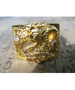 Very Rare Blessed Gold Holy Dragon Magic Ring Lucky Rich Powerful Buddha... - $14.99