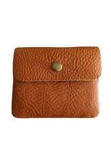 WOMEN NEW MINI Bi-Fold Genuine Leather Small Compact coin Wallet Light B... - $27.16