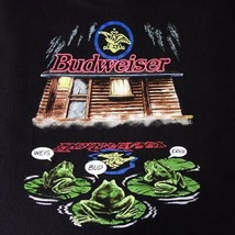 Vintage Single Stitch Budweiser Frogs Cabin Rare Graphic T Shirt Mens Sz... - $86.98