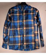 Columbia Rain Coat M 10-12 Youth Boys Girls Blue Plaid Jacket - $19.80