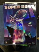 2018 Super Bowl 52 Eagles vs Patriots Program Auto Carson Wentz Zach Ert... - $291.55