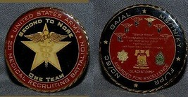 Army 2ND Medical Recruiting Battalion Challenge Coin For Excellence Neat Med - $22.76