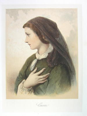 DAMES French Ladies Beauty Clarissa by Laurens - SUPERB COLOR Litho Print