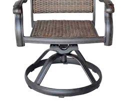 Patio outdoor Wicker Santa Clara Swivel Rocker Dining Chairs set of 4 image 4
