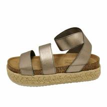 Pierre Dumas Mesa-4 Pewter Women's Platform Wedge Espadrille Sandal 25579 - $35.95