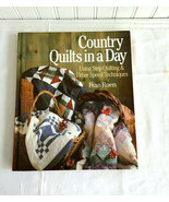 Book Country Quilts In A Day Guide Hardback 1991 Quilting Guide - $20.00