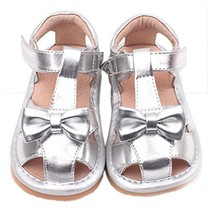 Toddler/Little Kids Girls Close Toe Casual Outdoor Sandal Silver