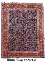 Tabriz Wool fiber Hand Knotted Rug 10' x 13' Persian - $1,715.19