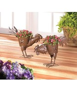 2 Pecking Country Rooster Planters - $35.98