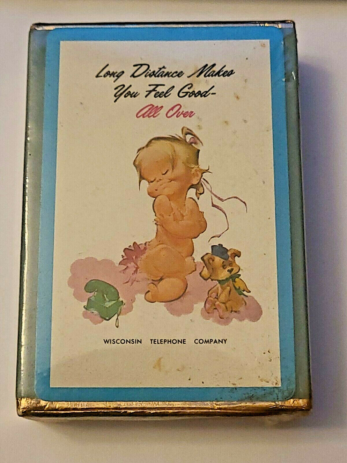 Vintage Sealed Deck Wisconsin Telephone Co. Playing Cards Long Distance (004)