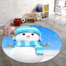 3D Christmas Xmas 081 Non Slip Rug Mat Room Mat Round Quality Elegant Carpet AU - $65.06+