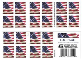 USPS US Flag 2017 Forever Stamps - Book of 20 (20 Postage Stamps) - $21.80