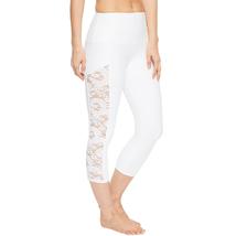 Onzie Bridal White Lace Stunner Capri Leggings Size M/L image 5