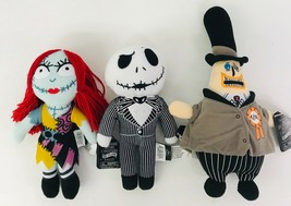 "Nightmare Before Christmas Disney Set Jack Sally Mayor 9"" Dolls 25th Ann... - $49.49"