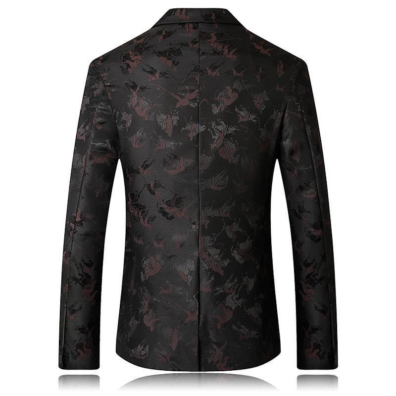 New style men casual blazer jacket British style printing classics business suit