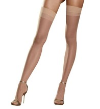 Dreamgirl NUDE Back Seam Stockings, US One Size - $2.97