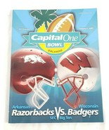 Capital ein Bowl Spiel Tag Programm 2007 Arkansas Razorbacks Vs.Wisconsin - $14.84