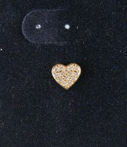 Swarovski Crystal Gold Tone Heart Stud Earrings New on Card image 2