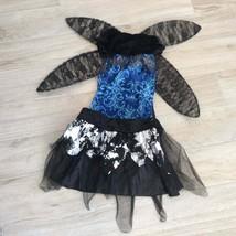 Black WING FAIRY Dress & Wings Sz M - $38.61