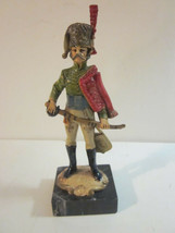 VINTAGE ITALIAN MADE NAPOLEONIC STYLE PRUSSIAN OFFICER SOLDIER CARRARA M... - $9.99