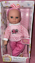"**Brand New** Kingstate Cuddly Love Baby Hannah Doll 14"" Pink Ladybug Ou... - $19.99"