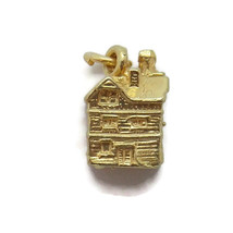 ANTIQUE HOUSE PENDANT CHARM. 14K YELLOW GOLD!! - $420.00