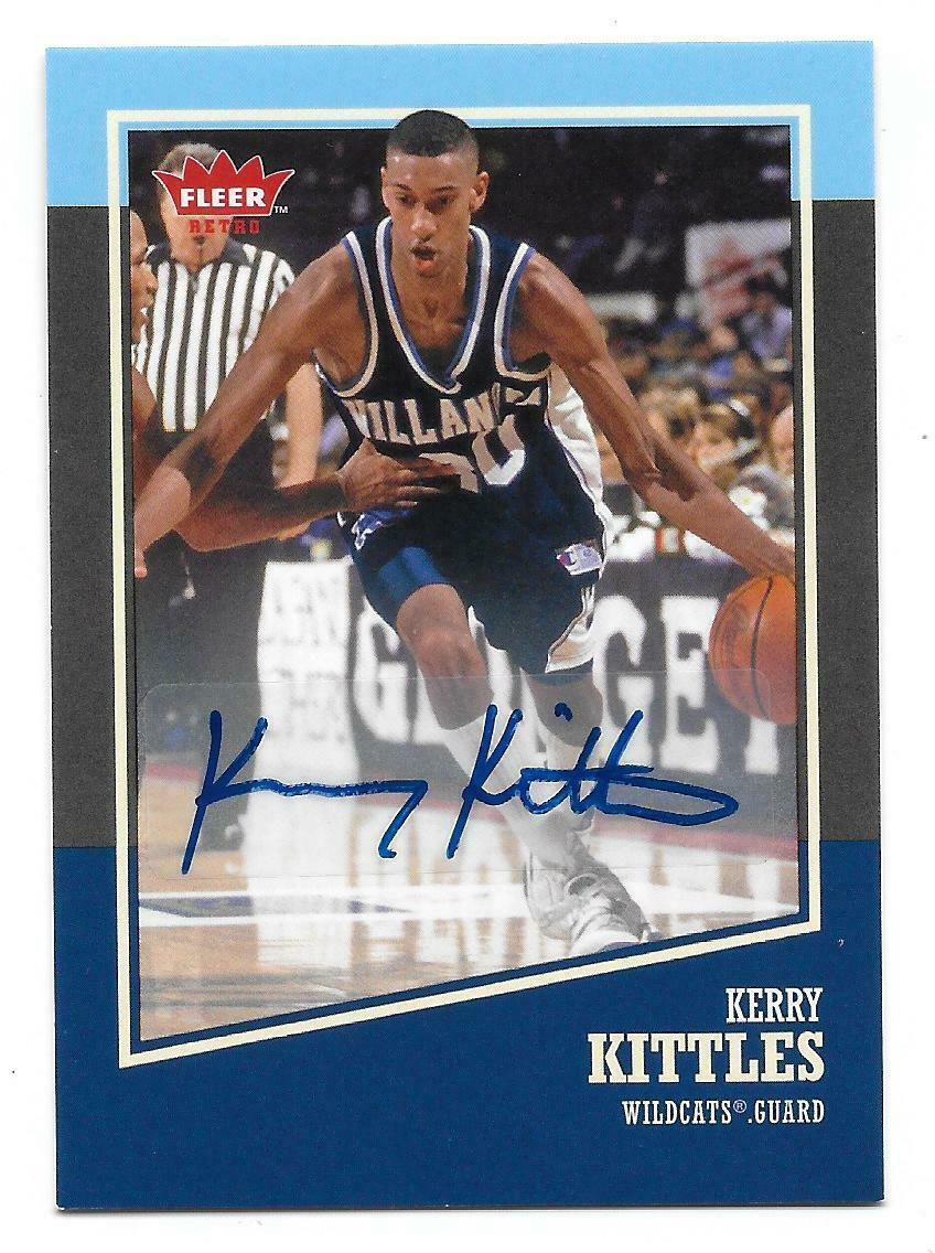 2013-14 Fleer Retro Basketball Kerry Kittles Autographed Card #10
