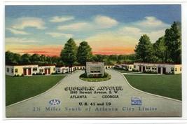Georgian Autotel Motel Atlanta Georgia Curt Teich Sample linen postcard - $5.89