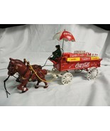 Cast Iron Coca Cola Horse Drawn Delivery Wagon - $49.99