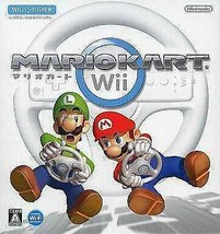 Wii Software Mario Kart Handle Included/Status No Outer Box F/S to US - $87.38