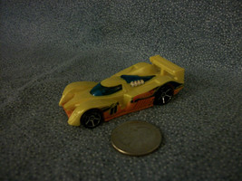 Hot Wheels 24 OURS Yellow / Orange Race Car 2010 Mattel Made In Malaysia - $1.56