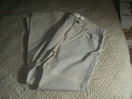 Perry Ellis Men's Tan  Casual Dress Pants 34/32 RN 37763 100% Cotton  - $9.89