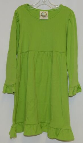 Blanks Boutique Long Sleeve Empire Waist Lime Ruffle Dress Size 5T
