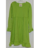 Blanks Boutique Long Sleeve Empire Waist Lime Ruffle Dress Size 5T - $32.00