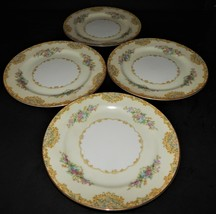 4 Noritake Alvin 95649 China Dessert Bread Plates Japan 1933  Floral Gol... - $32.66