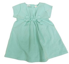 First Impressions Baby Girls' Ponte Flower Dress Aqua Haze 24 Months - $20.79