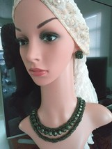 Vintage MARVELLA Seed Bead Strands Necklace And Clip On Earrings - $35.00