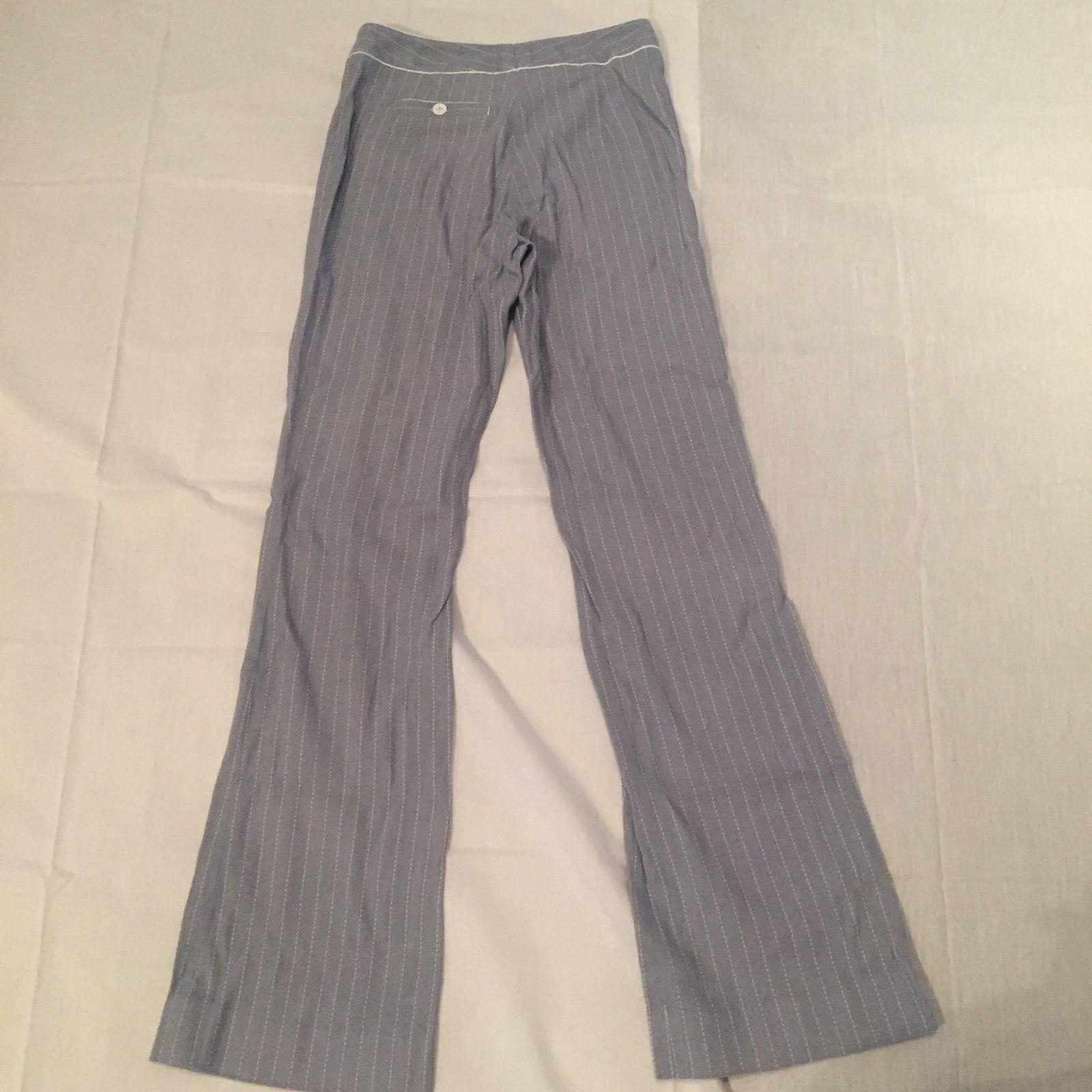 Etcetera Womens Pinstripe Pants Blue Size 4 Career Work
