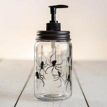 Country SPIDERS SOAP LOTION DISPENSER Farmhouse Rustic - Black Pump - $38.99